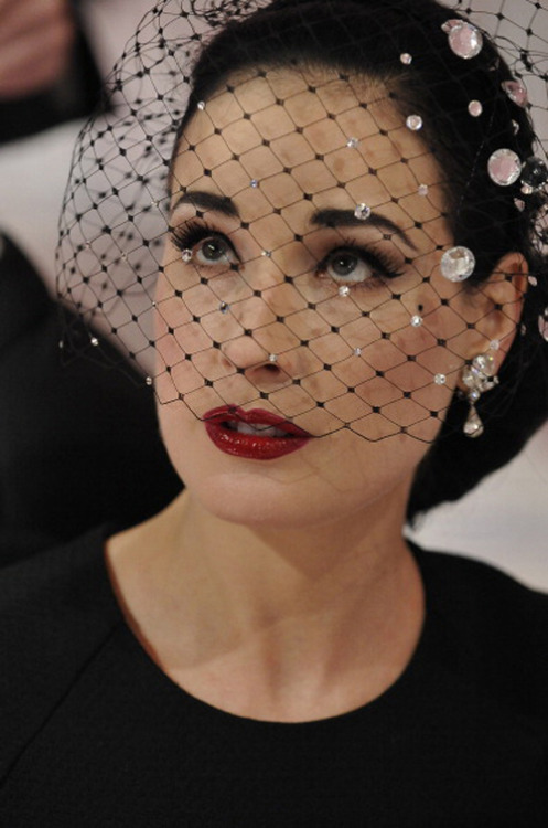 Dita Von Teese at Alexis Mabille Couture Spring/Summer 2013 in Paris, January 22nd