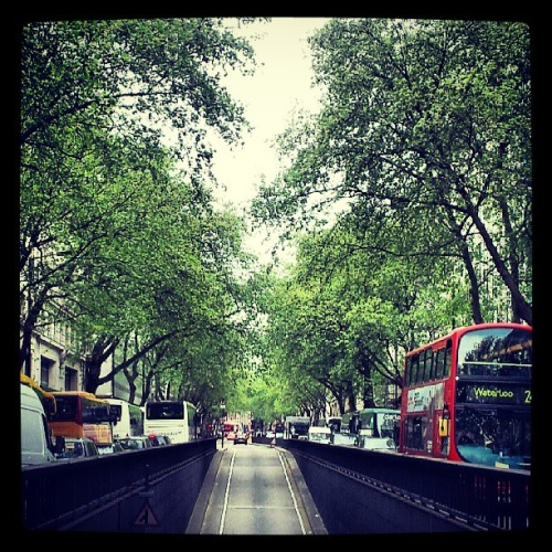 Looking down Kingsway, and who says England's always grey?  #Kingsway #London  (at Kingsway)