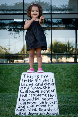 visual-poetry:  by miranda july pedestal for a little girl, 2011from the eleven heavy things series (via mitjaissick)