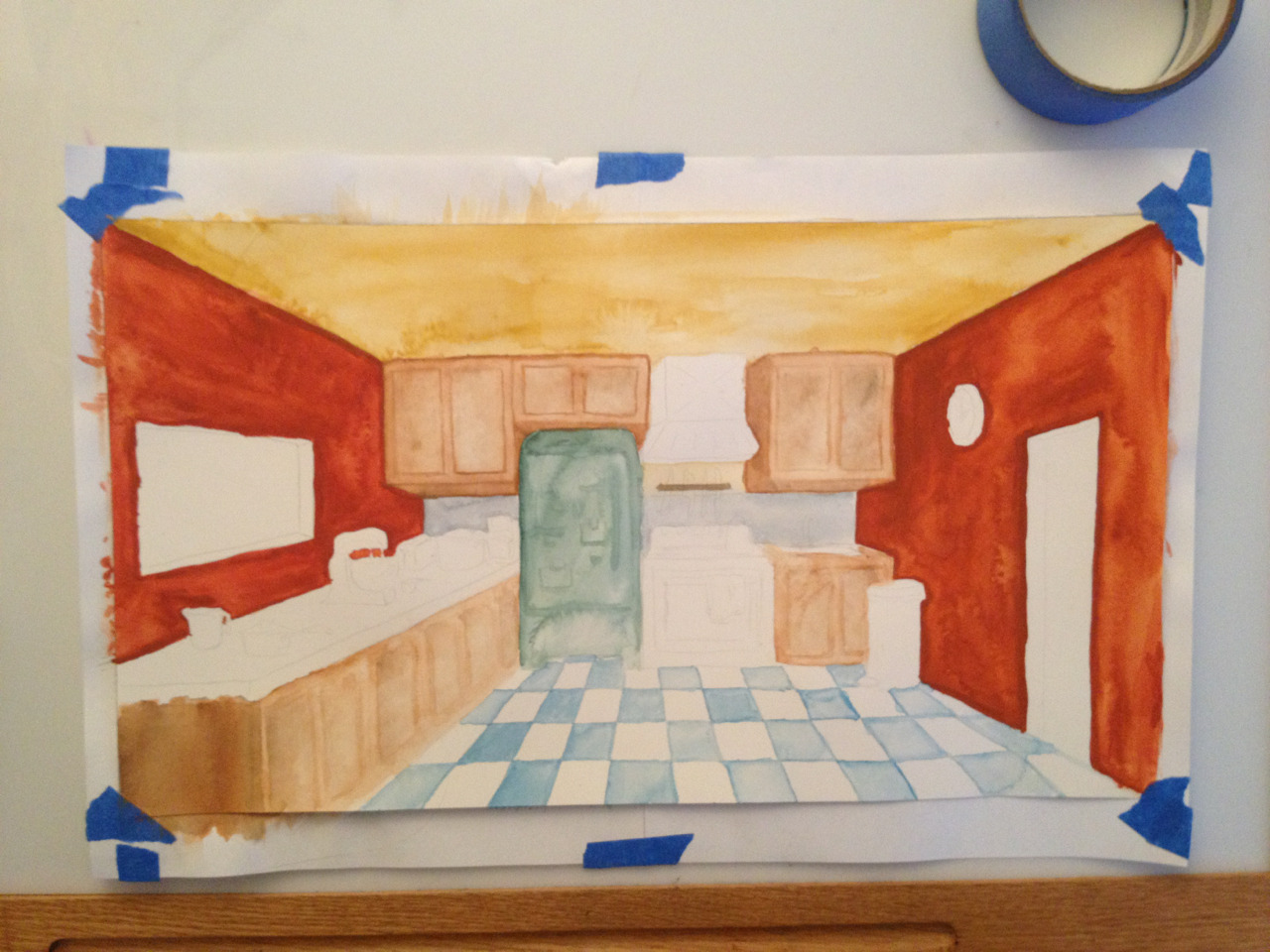 The kitchen level so far.