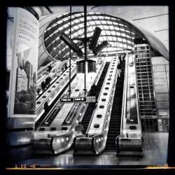 Canary Wharf #underground station #london #blackandwhite #architecture