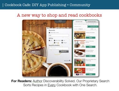 Got an iPad? Check out our free cookbook app http://bit.ly/cookbookcafe - you can even make your own cookbooks at http://bakespace.com/cookbooks Perfect for Mother's Day, Bridal Showers, birthday gifts for your friends who cook. :)