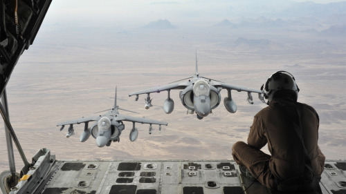 Two AV-8B Harriers via Gizmodo