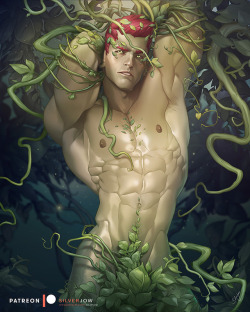 silverjow:   www.patreon.com/silverjow Poison Ivy Genderbend is something that I always wanted to do. I do not want him to look like wearing a garment, everything on him is organic and a part of him, hopefully it's not too weird. I had so much fun and I really enjoyed working on this piece. Hope you guys will like it too.