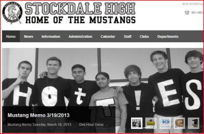 Made it onto the school website again. None of the pictures they run seem seem to be exactly uh flattering. Oh well :P