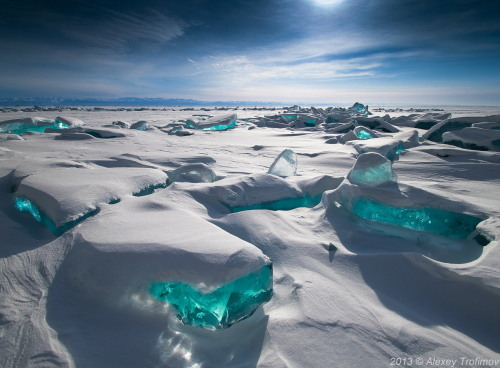Lake Baikal, Siberia, March 2013 via inosentence