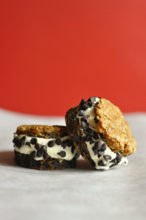 eggton's chocolate chip ice cream sandwiches  click here for recipe