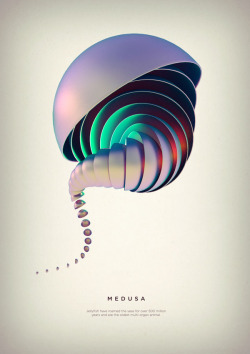 weandthecolor:  Medusa - Revolved Forms Project A digital art series by graphic designer and digital artist Črtomir Just. More of the series on WE AND THE COLORWATC//Facebook//Twitter//Google+//Pinterest
