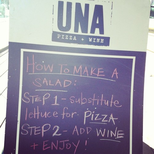 at Una Pizza + Wine