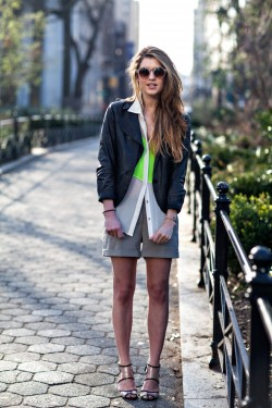 Spring has spring and we're loving this pop of neon green…Union Square, NY (via On the Racks)