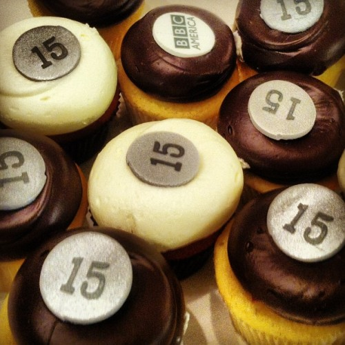 bbcamerica:  Today is BBC America's 15th Anniversary! There were cupcakes.