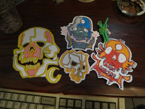 Handmade stickers by the one and only Jesse Martinez. http://radfact.com/