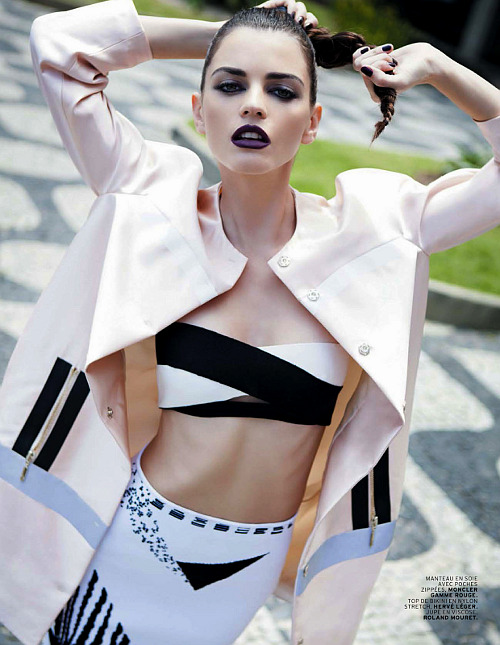 she-loves-fashion:  SHE LOVES FASHION: Jeisa Chiminazzo by Michael Roberts for L'Officiel Paris May 2013