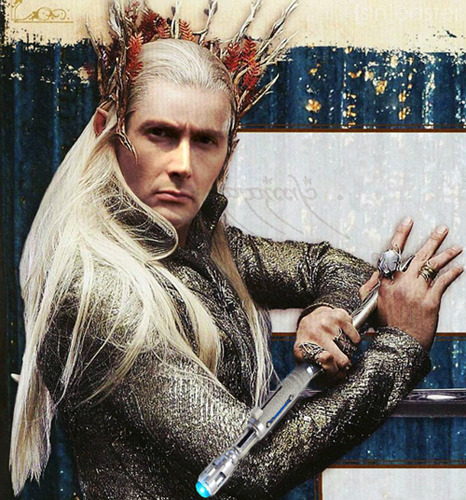 so we heard David could be Thranduil, and I did THIS lol
