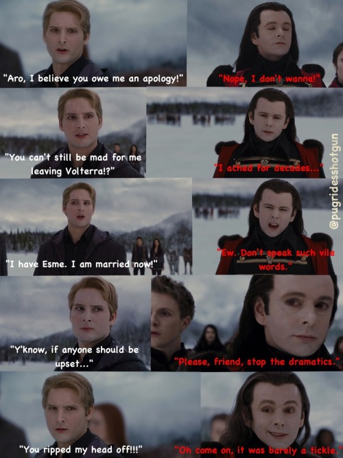 pugridesshotgun:  Carlisle Cullen & Aro — The Confrontation. (The Lost Footage — part 8)