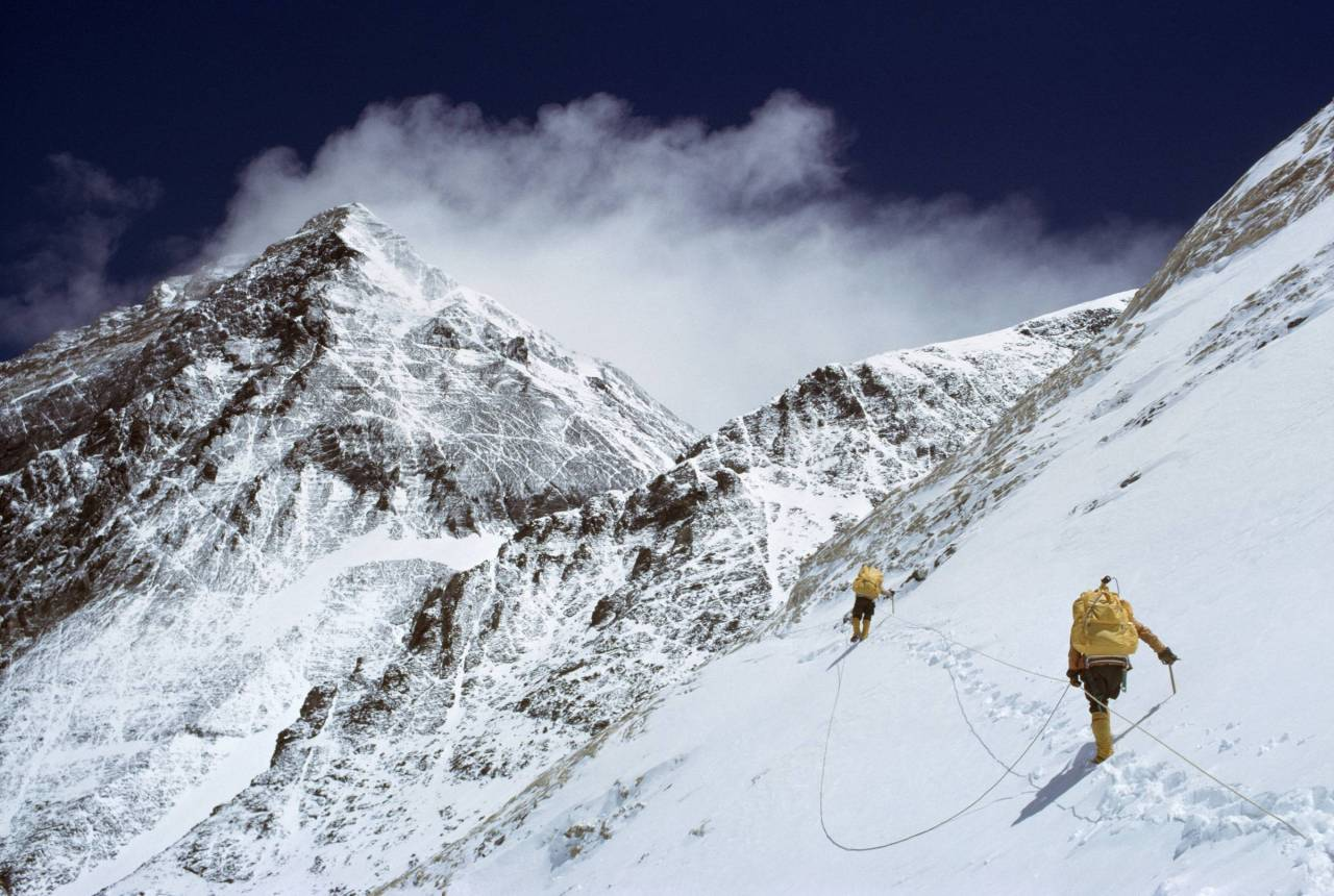 collectivehistory:  The first American team to summit Mount Everest including National Geographic's Barry Bishop, 1963 (via Imgur)