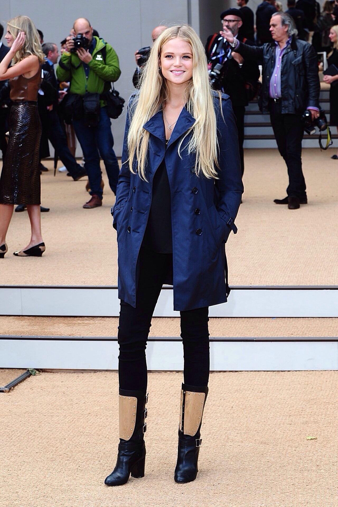 Gabriella Wilde attends the Burberry Prorsum show LFW ss 14, Arrivals