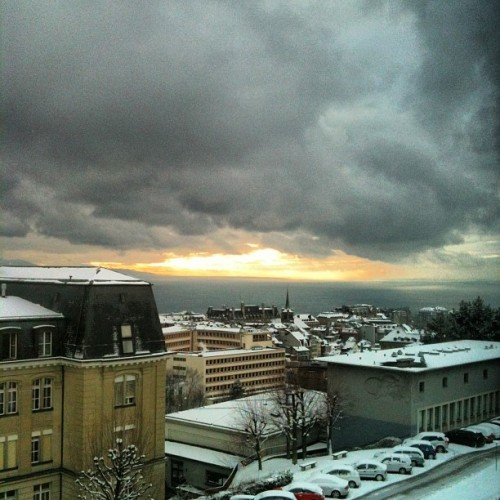 It snowed #lausanne #switzerland