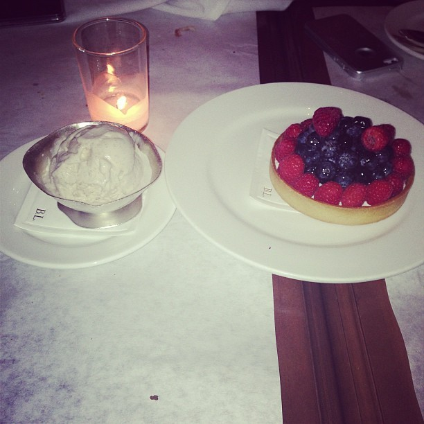 & for desert, Fruit Tart, A'LaMode   (at Bottega Louie)