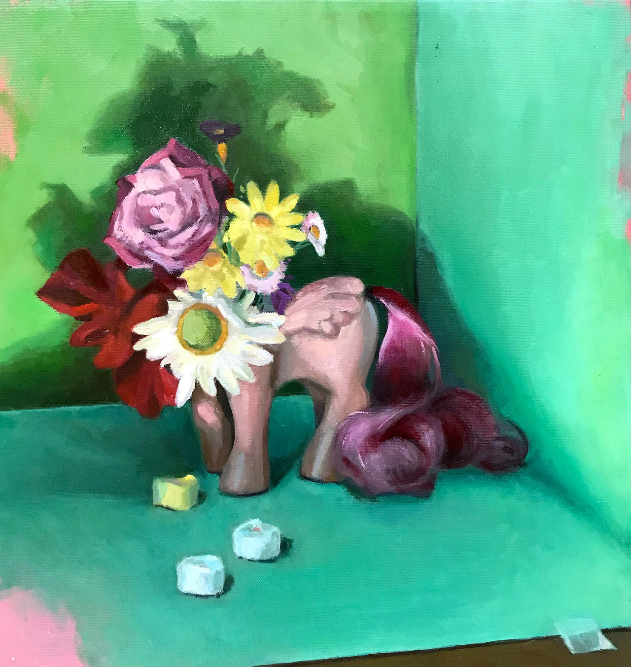 Broken Pony Bouquet oil on canvas, 16 x 16 inches By artist Elizabeth Levesque Lizzelizzel.com - Personal Art Blog Tumblr — Immediately post your art to a topic and get feedback. Join our new community, EatSleepDraw Studio, today!