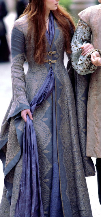 Close up of Sansa's gown in episode 2 of season 3