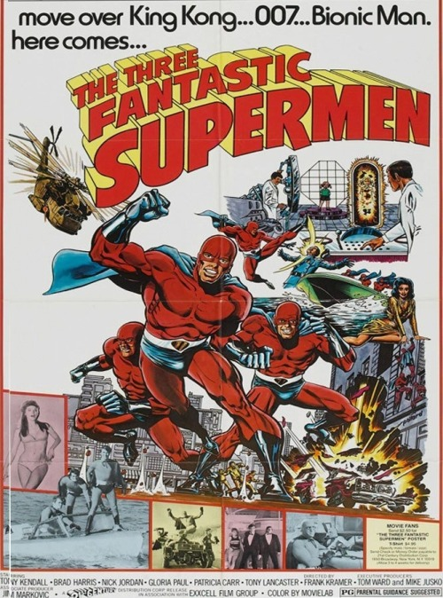 #142: Three Fantastic Supermen. Italy, 1967. Dir. Gianfranco Parolini. cinemock:  Just…wow. I love the sets. Everyone must have a room full of gold bars at some point in their adult lives.