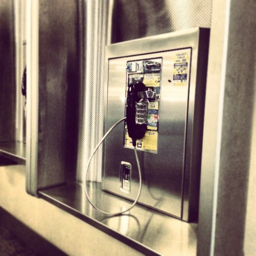 Waiting for my plane to arrive..patiently the terminal gate… this payphone starts to ring… people look at me like Im supposed to answer it… I look at them and say germs, no way.  #imaweirdo #germaphobe (at Gate C13)