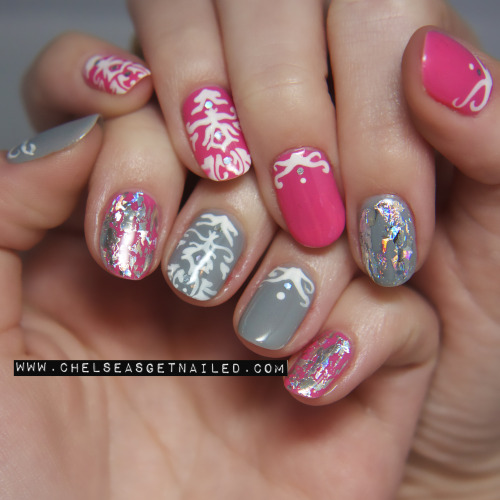 getnail-d:  Happy Spring! ♥ Spring Brocade Nails.
