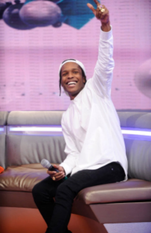 asapcamp:  Blurry but F it. Asap Rocky at 106 & Park to promote Asap Ferg's Work Remix Video
