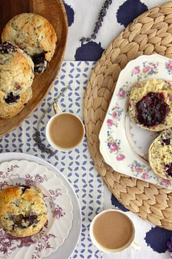 Lavender Blackberries Scones