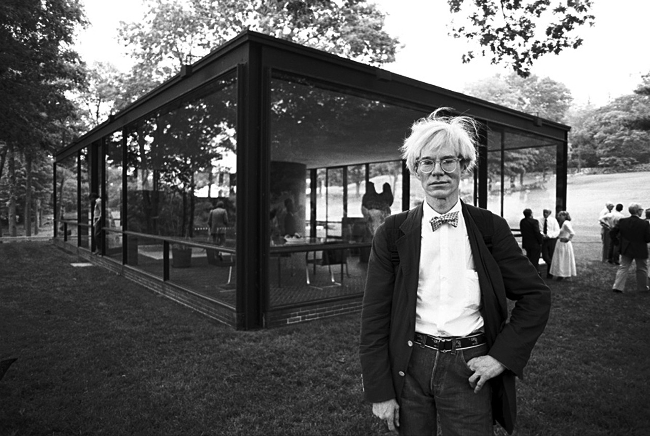The Bow Tie Crowd Just Hangin' Out At The Glass House. Andy Warhol.