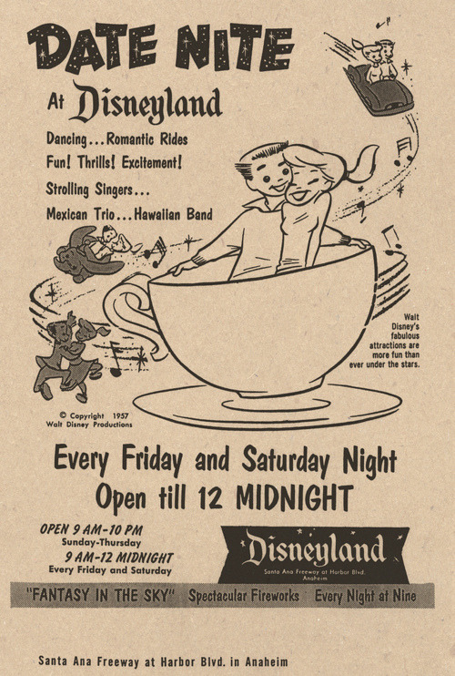 vintagegal:  Date Nite at Disneyland, 1957 (x)