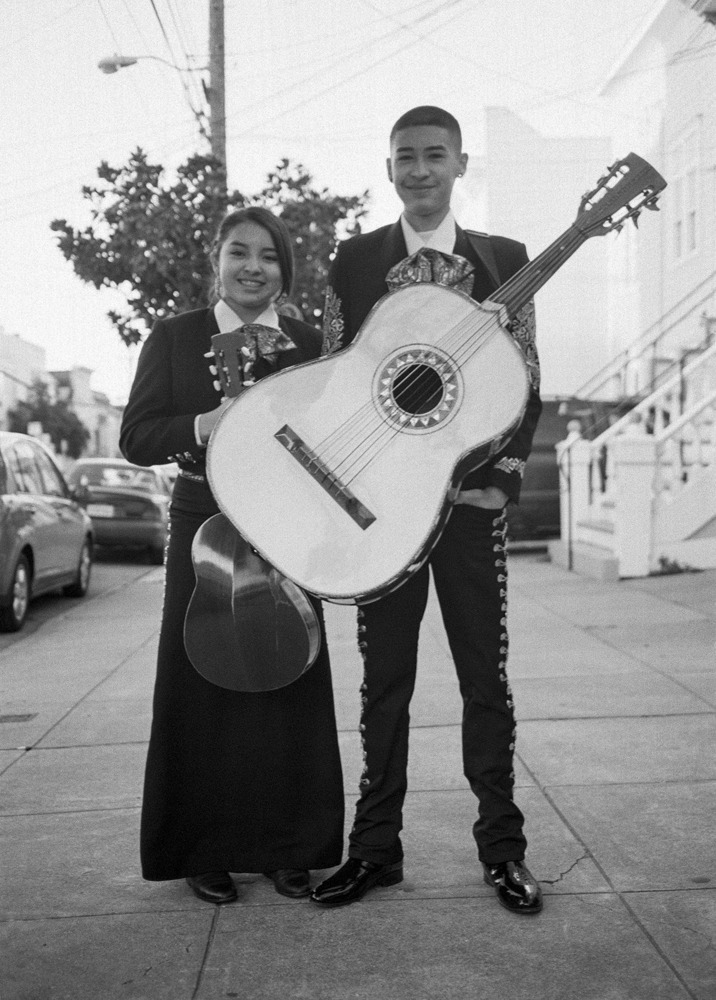 Mariachi players 22nd and York, San Francisco CA