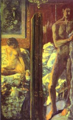 "nuncistandere:  Bonnard, ""Man and Woman"""