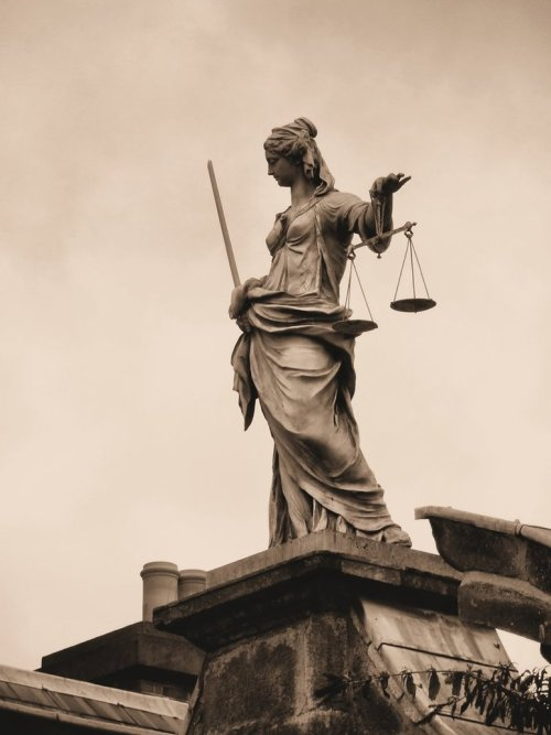 statuemania:  Statue of Iustitia (Lady Justice)  Dublin Castle, Dublin, Ireland. (Photo by IoannisCleary)