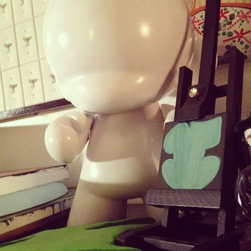 Art Rules Everything Around Me #vandal #vandalnyc #munny #v @kidrobot #throwies