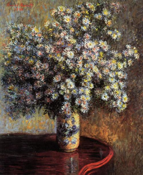 umdesassossego:  Claude Monet, Asters, 1880