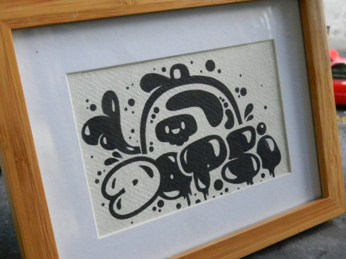 DOPSI vector graff behind glass by Stick-A-Thing_____S_____ A_____T