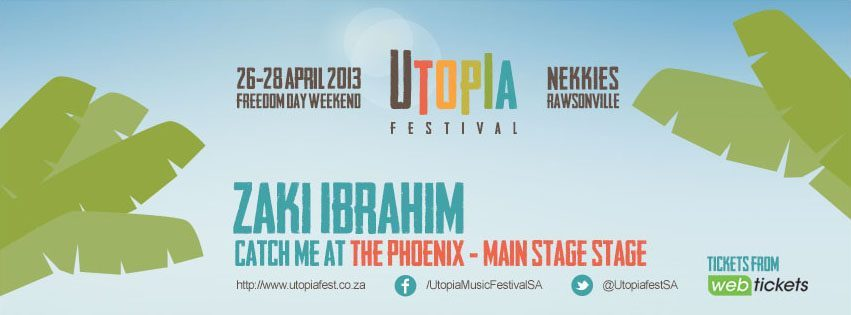 Event: Our Sci-Fi soul queen Zaki Ibrahim will be out at Utopia Music Festival, Cape Town this weekend / Follow @zakiibrahim for updates