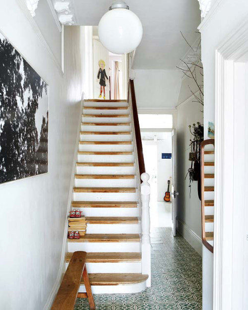 raw wooden staircase (via desire to inspire)