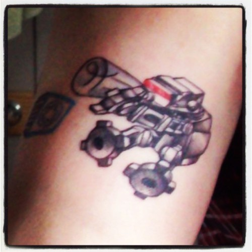 One of my baby #ATAT #tattoos. #starwars #star_wars #AT-AT #imperial #imperialwalker #baby #bottle #tattoo #girlswithtattoos #tattooedgirl #tattooedgirlsofinstagram