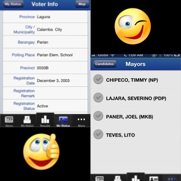 #halalan2013 #eleksyon2013 #votewisely #votesmart #voteforyourrights Thank you @_vonbonito_ for recommending the app 👌 (at Le Cave)