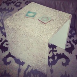 I love my little table. Want to find a little stool/ottoman to fit inside of it.