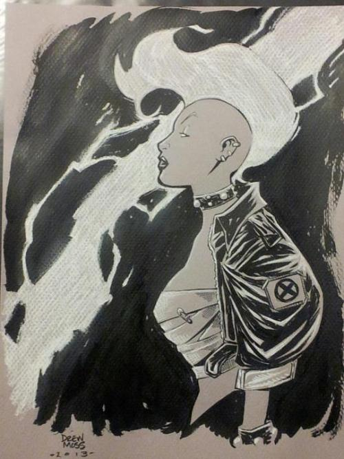 Awesome Punk Storm by artist and super-nice gent, Drew Moss!  I watched him do this thing from almost start to finish…he's fearless with the inks! Check out the preorder for his new sketchbook here!