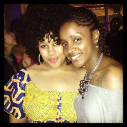 Look at who I bumped into last night! Good to see my fellow natural and Soror Paula from @tendrilsandcurls. If you're in Houston, you should definitely check out her shop for all of your natural hair care goodies and needs. #naturalhair