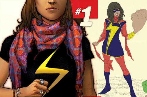 kateordie:  comicsalliance:  Marvel Unveils New Ms. Marvel: A Muslim Pakistani-American Teenager ByAndrew Wheeler  The New York Timesbroke news todayof a new solo superhero title launching from Marvel early next year — and this one comes as a welcome change of pace for readers who want to see more diversity in their super-books. Ms Marvel#1, from writerG. Willow Wilson(Cairo) and artistAdrian Alphona(Runaways), introduces the world to the young Muslim woman who takes on the mantle of Ms. Marvel formerly held by Carol Danvers, the currentCaptain Marvel. The new Ms. Marvel will be thefirst Muslim character to get her own ongoing solo series at Marvel, one of a growing number of female solo leads, and the only person of color headlining a solo book. READ MORE   This is AWESOME.