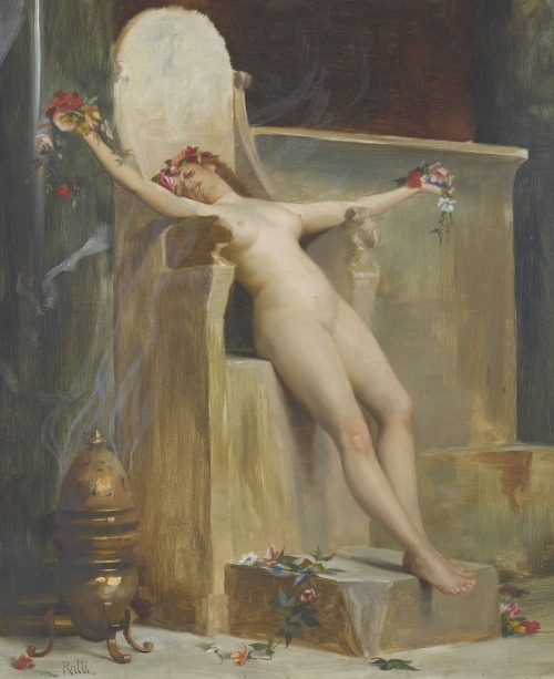 "arcadiaart:  Theodoros Ralli (Greek, 1852-1909), ""The Offering""."