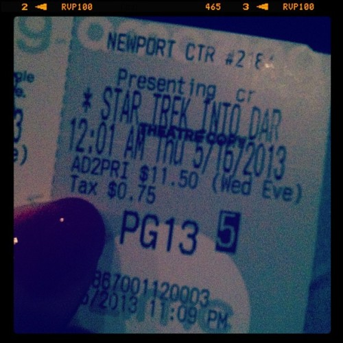 A midnight screening of #StarTrek. It's only logical.  (at AMC Loews Newport Centre 11)
