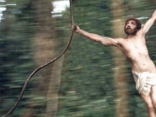lulz-time:  jesus-everywhere: Jesus Swinging Through The Jungle  Via/Follow The Absolute Greatest Posts…ever.