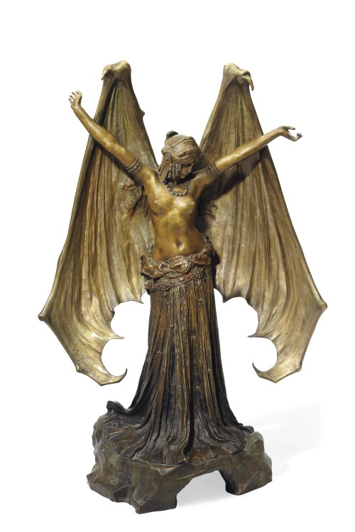 christiesauctions:  Agathon Léonard (1841-1923)'Le Vampire' 'La Chauve-Souris', an Important Symbolist Figure, circa 1903 20th Century Decorative Art & Design